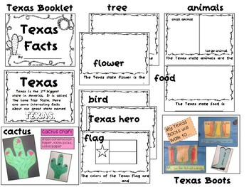 All About Texas Unit {Texas Fact Booklet, Activities and Crafts}