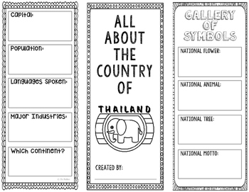 Thailand - Research Project - Interactive Notebook - Government - Mini Book