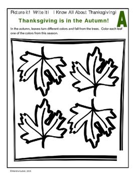 Thanksgiving ABC Workbook
