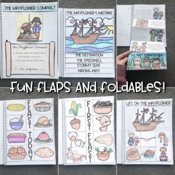 All About Thanksgiving Interactive Notebook (Thanksgiving, Wampanoag, Mayflower)