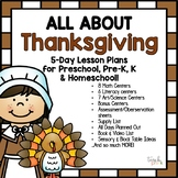 All About Thanksgiving! Lesson Plan for Preschool, Pre-K, K, & Homeschool