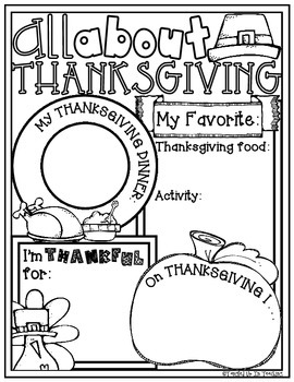 All About Thanksgiving Poster: A Fall-Tastic Holiday Activity