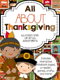All About Thanksgiving- student books, interactive notebook pages, and more!