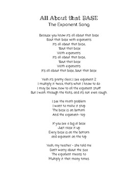 All About That Base - Exponent Song