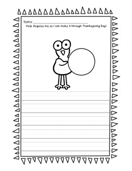 All About That Turkey, No Hunting - Thanksgiving Writing Prompts