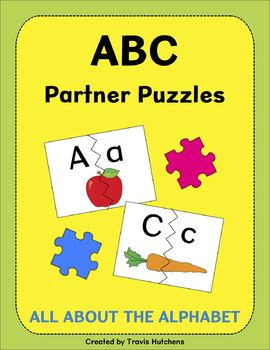 All About The Alphabet: ABC Partner Puzzles