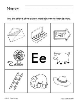 All About The Alphabet: Find and Color Activity Sheets
