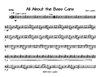All About The Bass Cans-Student Parts