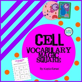 The Ultimate CELL Vocabulary Magic Square: 7.L.1