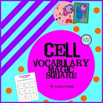 The Ultimate CELL Vocabulary Magic Square: 7.L.1
