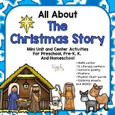 All About The Christmas Story Mini Unit for Preschool, PreK, K & Homeschool
