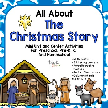 Christmas Story For Preschoolers.All About The Christmas Story Mini Unit For Preschool Prek K Homeschool