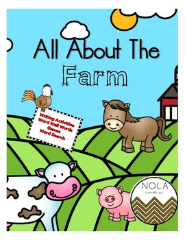 All About The Farm- No Prep Activity Packet