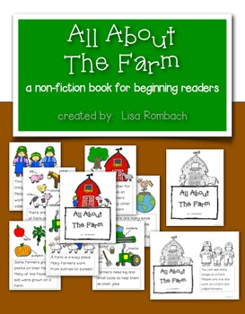 All About The Farm a non fiction book for beginning readers