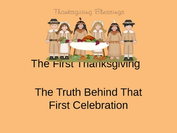 All About The First Thanksgiving