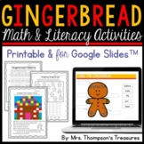 Gingerbread Man Activities Printable and for Google Slides™ Distance Learning