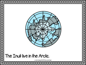 All About The Inuit Emergent Reader Book AND Interactive Activities
