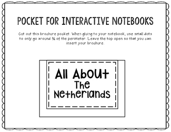 The Netherlands - Research Project - Interactive Notebook - Mini Book