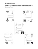 All About The Number - (1 - 5)  Learning worksheets