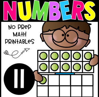 All About The Number Eleven ~ No Prep Math Printables for Kindergarten