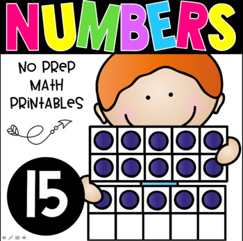 All About The Number Fifteen ~ No Prep Math Printables for