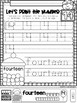All About The Number Fourteen ~ No Prep Math Printables for Kindergarten