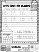 All About The Number Sixteen ~ No Prep Math Printables for Kindergarten