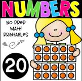 All About The Number Twenty ~ No Prep Math Printables for Kindergarten