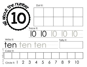 Numbers and Number Concepts 1-10