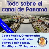 All About The Panama Canal Spanish Reading, Activities, #AUTHRES