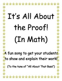 All About The Proof (Math Song)