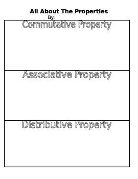"""All About The Properties"" Project 3.OA.5"