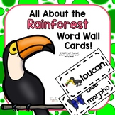 All About The Rainforest Word Wall Picture Cards