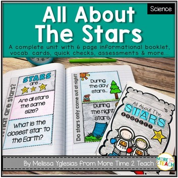 All About The Stars: Int. Notebooks, Mini Booklet, Vocab. Cards, & Assess.