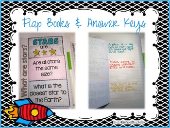 Stars Space Unit w/ Informational Text + Interactive Notebook + Assessment