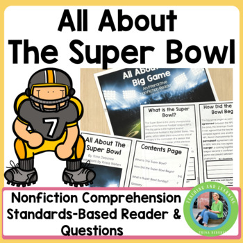 All About The Super Bowl: An Informational Text Interactive Reader