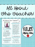 All About The Teacher Template