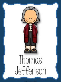 All About Thomas Jefferson Posters and Book to Create