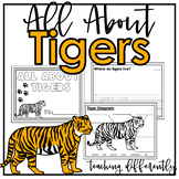 All About Tigers {Differentiated Informational Text Writing}