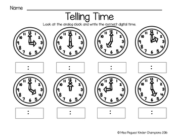 All About Time Mini Unit: Hour