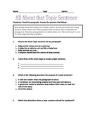 All About Topic Sentences