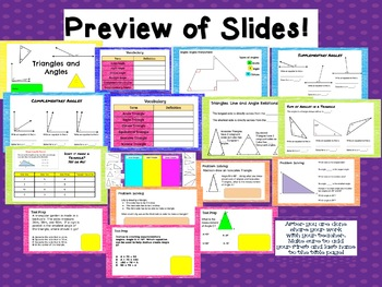All About Triangles and Angles Google Classroom Ready! TEKS 6.8A and 6.10A