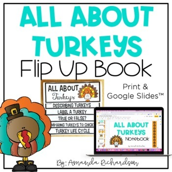 All About Turkeys Flip Up Book