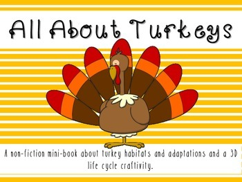 All About Turkeys Minibook- including life cycle, habitats