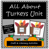 All About Turkeys- Nonficiton Unit Craft & Literacy Activities