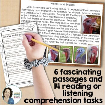 All About Turkeys {for reading and language comprehension}