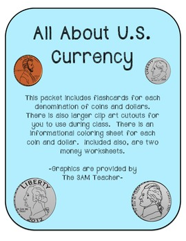 All About U.S. Currency Learning Packet