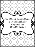 All About Unicellular & Multicellular Doodle Notes Bundle