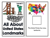 All About United States Landmarks Adapted Book (3 Levels)