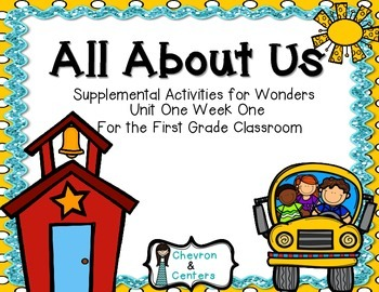 All About Us-Supplemental Activities for Wonders Unit 1 Week 1